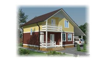 """Проект дома из СИП панелей с мансардой """"Орион 1"""" Площадь: 116 м2"""
