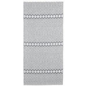 Elin Woven Floor Cloth, Graphite, 70x300 cm