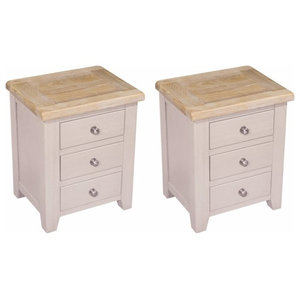 Sunhill 3-Drawer Bedside Table, Set of 2