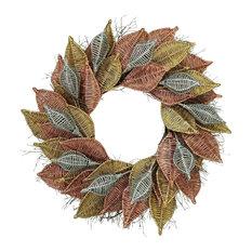 Botanical Splash   Metallic Wicker   Wreaths And Garlands