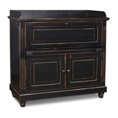 crafters and weavers landon secretary desk black desks and hutches antique home office furniture fine