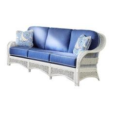 Regatta Sofa In White Callista-Stripe-Delft Fabric