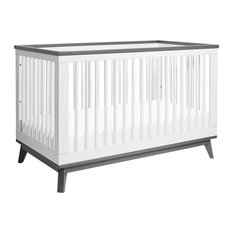 Scoot 3-In-1 Convertible Crib, White And Slate
