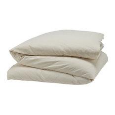 Coyuchi - Cloud Brushed Flannel Duvet Cover, Natural, Full/Queen - Duvet Covers and Duvet Sets