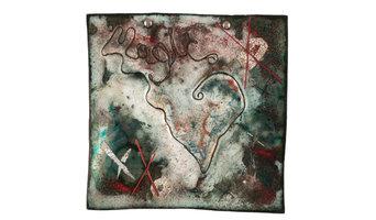 """Magic Drug II"" Metal and Glass Wall Art, 8""x8"""