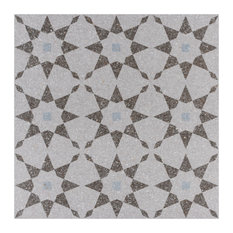 """SomerTile 11.5""""x11.5"""" Farnese Aventino Porcelain Floor and Wall Tile, Humo"""