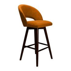 Piero Barstool - Orange Velvet