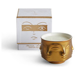 Jonathan Adler - Muse Candle, D'or - Sometimes you should gild the lily. We searched long and hard to develop a gold glaze that doesn't obscure the details of the Muse face - this is it.