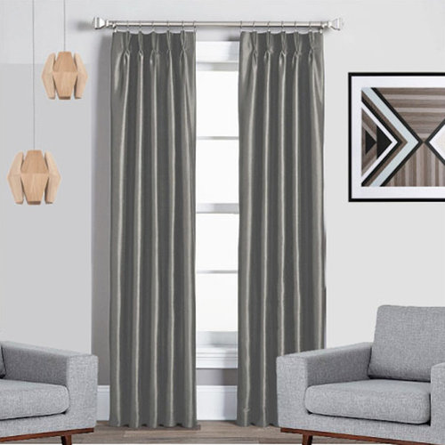 texas grey blockout thermal pinch pleat curtains curtains