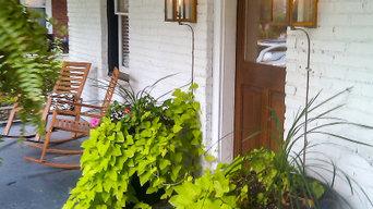 Porch Lighting, Lantern & Scroll