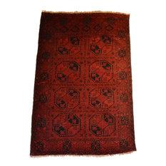 Tribal Afghan Fielpa Oriental Rug, 4'x6'