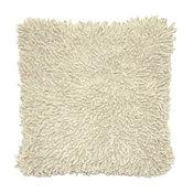 Shagadelic Chenille Pillow, White
