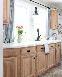 should i paint my hickory cabinets white rh houzz com