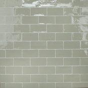 "SomerTile Chester Ceramic Wall Tile, 3"" x 6"", Sage"