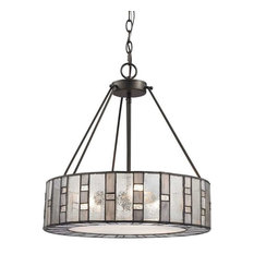 Ethan 3-Light Chandelier, Tiffany Bronze
