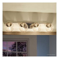 Luxury Modern Bath Vanity Light, Costa Mesa Series, Polished Chrome