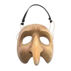 Handmade Long Nosed Clown Wood mask - Indonesia
