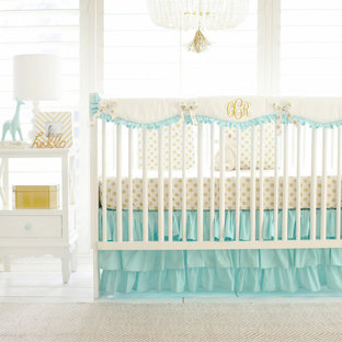 Example of a cottage chic girl nursery design in Jacksonville