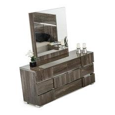 Modrest Picasso Italian Modern Gray Lacquer Dresser
