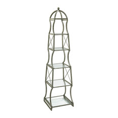 CYAN DESIGN - Cyan Design Chester Etagere, Rustic Gray - Bookcases