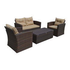 Residence - Shana 4-Piece Outdoor Seating Set - Outdoor Lounge Sets