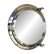 Deluxe Class Porthole Mirror, Chrome, 20''