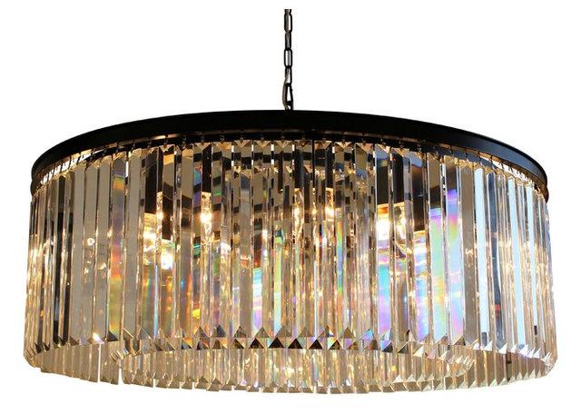 12 light round clear glass fringe crystal prism chandelier 12 light round clear glass fringe crystal prism chandelier clear glass mozeypictures Choice Image