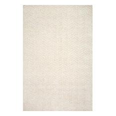 "Hand Woven Monochrome Cs01 Rug, Ivory, 8'6""x11'6"""