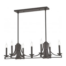 Livex, Trumbull 9-Light Linear Chandelier, Bronze