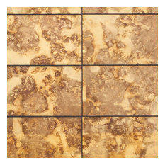 "Lana Gold 6""x18"" Antique Glass Wall Tile"