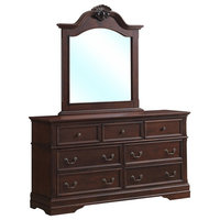 Elegant 7-Drawers Luxury Chest Dresser Mirror Storage Set
