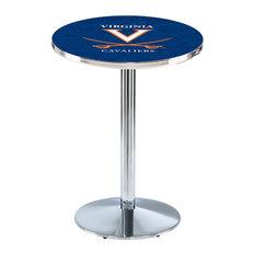 L214 - 36-inch Chrome Virginia Pub Table By Holland Bar Stool Co.