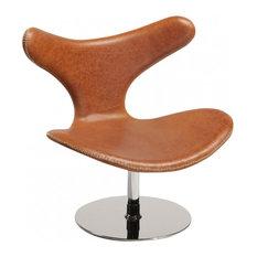 - Dolphin Loungestol, brunt läder - Loungemöbler