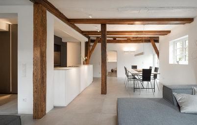 Loftcharakter und optimierte Räume im Fachwerkhaus