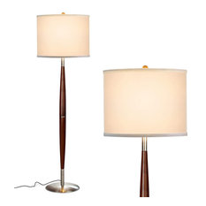 Brightech Lucas - Mid Century Modern Floor Lamp For Living room and Bedroom