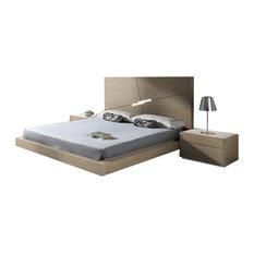 Evora Premium 3 Piece Bedroom Set Natural Oak Queen