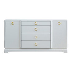 Bungalow 5 Pavel 4-Drawer And 2-Door Cabinet White