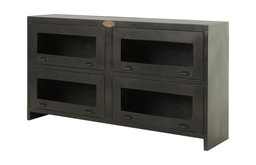 Four Hands Rockwell Media Cabinet, Antique Iron