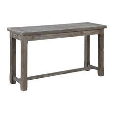Pemberly Row Magnolia Rustic Charcoal Gray Console Table