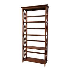 Montego Bookcase, Walnut, 5 Shelf