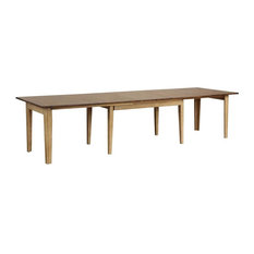 134 in. Rectangular Extendable Dining Table