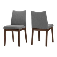 gdfstudio gertrude fabric and wood finish mid century modern dining chairs set of 2 - Mid Century Modern Dining Room Chairs