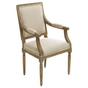 GDF Studio Martin Weathered Dark Coffee Stripe Arm Chair
