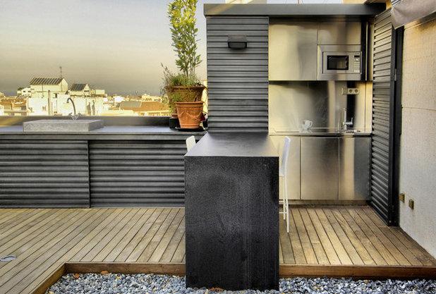 8 buenas ideas para ubicar una cocina en el exterior - Cajoneras para exterior ...