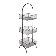 "Metal Black Tray Stand, 13""x42"""