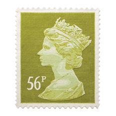 Green 56p Stamp Rug, 100x120 cm