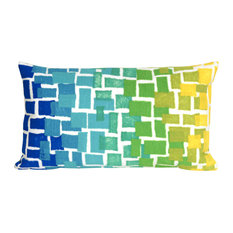 "Ombre Tile Blue Pillow - 12""X20"""