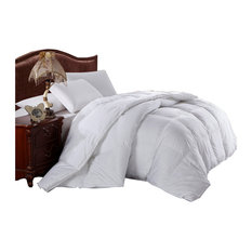 100% Cotton Solid Shell All-Seasons Down Comforter, Full/Queen