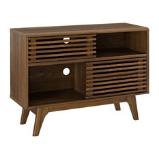 Modern Urban Living Media TV Stand Console Table, Wood, Brown