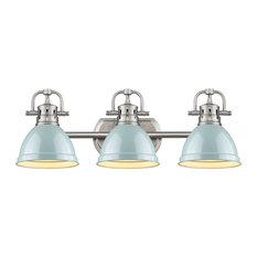 """Golden Lighting 3602-BA3-PW Duncan 3 Light 25""""W Bathroom Vanity - Sea Foam"""